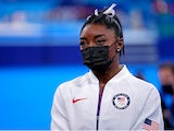 Simone Biles pictured at the Tokyo 2020 Olympics in July 2021