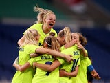 Fridolina Rolfo of Sweden celebrates scoring their third goal with teammates on July 24, 2021