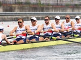 Team GB's men's eight in action on July 30, 2021