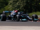 Valtteri Bottas in action during practice for the Hungarian Grand Prix on July 30, 2021