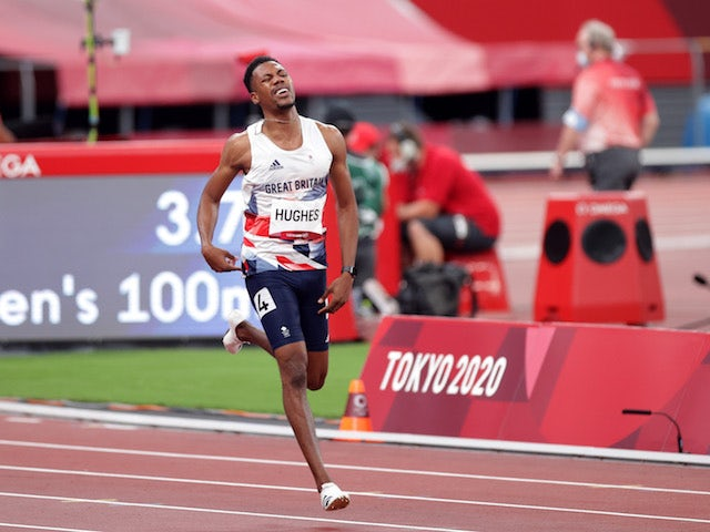Tokyo 2020: Zharnel Hughes: 'Cramp to blame for 100m final disqualification'
