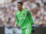 West Ham United's Alphonse Areola in action on August 7, 2021