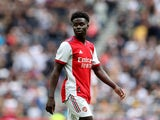 Arsenal's Bukayo Saka looks on on August 8, 2021