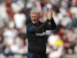 West Ham United manager David Moyes applauds the fans at the end of the match on August 7, 2021