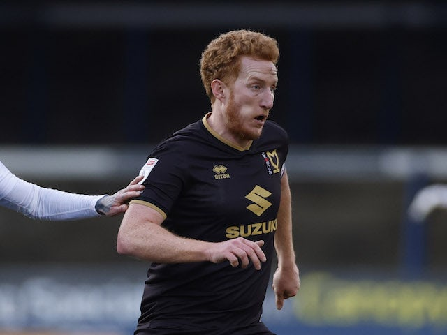 MK Dons' Dean Lewington pictured in January 2021
