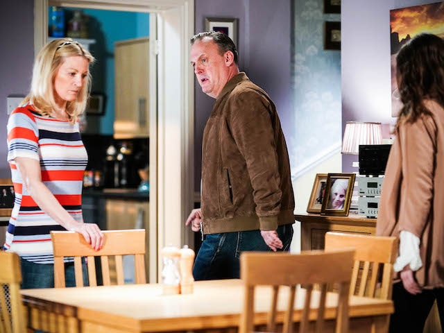 Kathy and Harvey on EastEnders on August 9, 2021