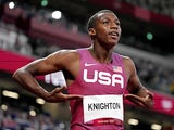 Erriyon Knighton (USA) during the Tokyo 2020 Olympic Summer Games at Olympic Stadium on August 3, 2021
