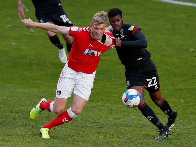 Charlton Athletic's Jayden Stockley in action against Lincoln City pictured on May 4, 2021