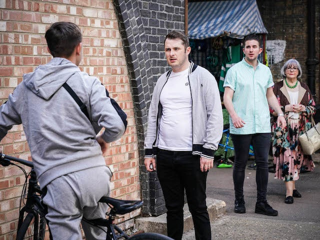Ben, Callum and Vi on EastEnders on August 13, 2021