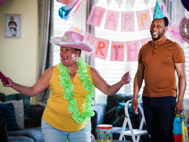Karen and Mitch on EastEnders on August 10, 2021