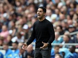 Arsenal manager Mikel Arteta reacts on August 8, 2021