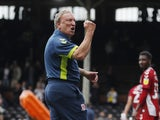 Middlesbrough manager Neil Warnock acknowledges the fans after the match on August 8, 2021