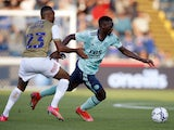 Leicester City's Patson Daka in action on July 28, 2021