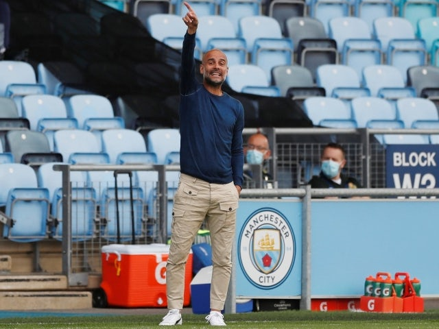 The in-house striking options available to Manchester City boss Pep Guardiola