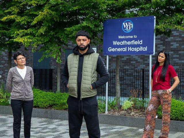 Alya, Yasmeen and Zeedan on Coronation Street