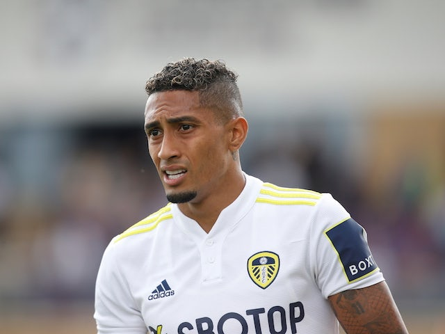 Leeds United attacker Raphinha pictured on July 31, 2021
