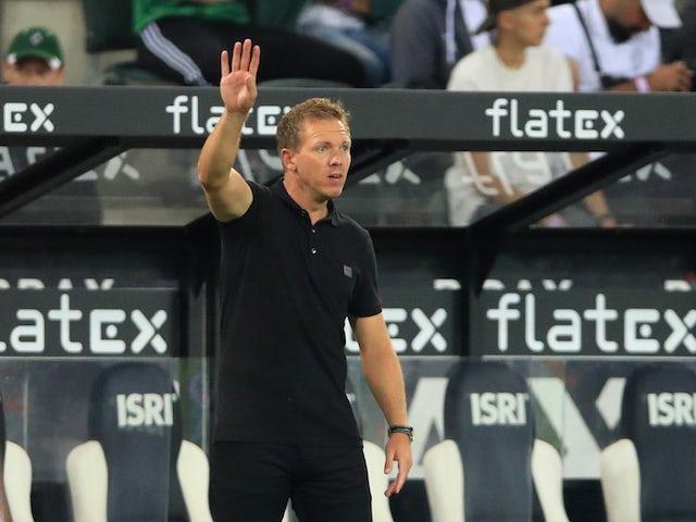 Bayern Munich coach Julian Nagelsmann during the match on August 13, 2021