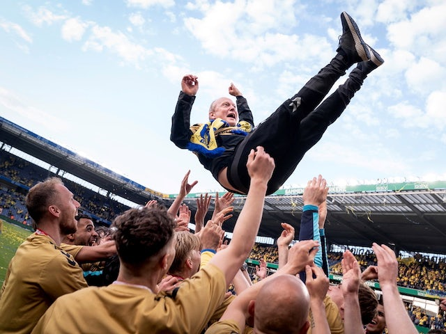 Brondby boss Niels Frederiksen pictured in May 2021