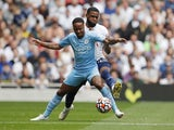 Manchester City's Raheem Sterling in action against Tottenham Hotspur in the Premier League on August 15, 2021