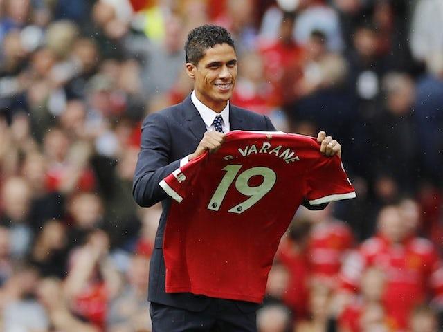 Manchester United centre-back Raphael Varane pictured on August 14, 2021