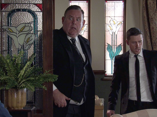 Todd, George and Phelan's ashes on the second episode of Coronation Street on September 3, 2021