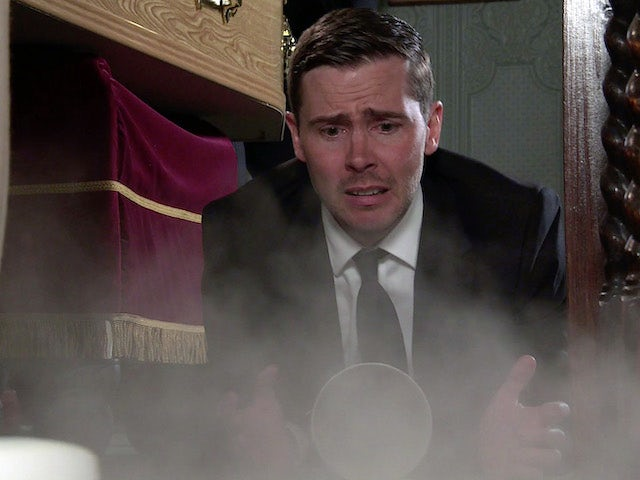 Todd and an urn on the second episode of Coronation Street on September 3, 2021
