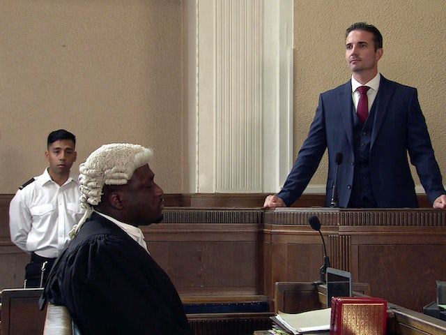Tommy Orpington takes the stand on the second episode of Coronation Street on September 3, 2021