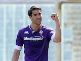 Dusan Vlahovic pictured for Fiorentina in April 2021