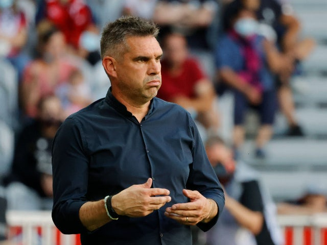 Lille manager Jocelyn Gourvennec pictured in August 2021