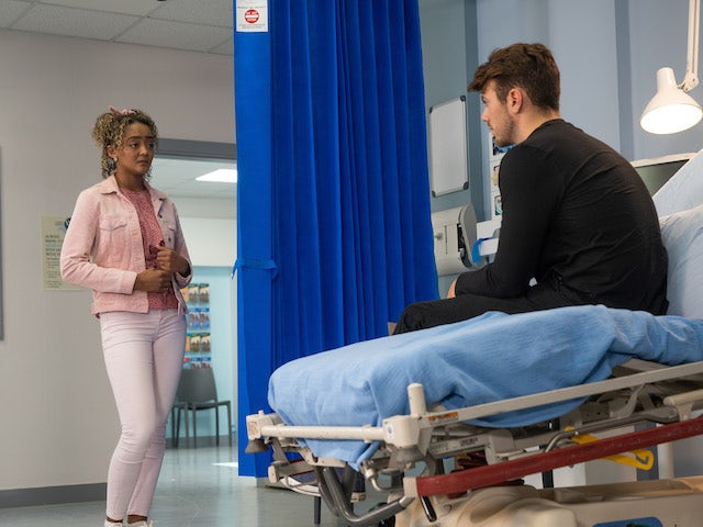 Curtis and Emma on the second episode of Coronation Street on September 3, 2021