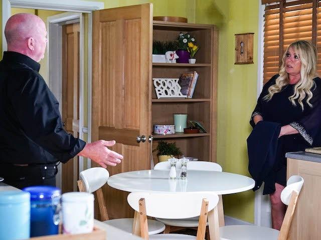 Phil and Sharon on EastEnders on September 3, 2021