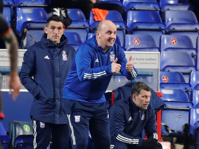 Ipswich Town manager Paul Cook pictured on March 9, 2021