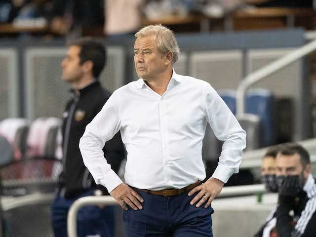 Minnesota United head coach Adrian Heath during the first half against the San Jose Earthquakes at PayPal Park on August 17, 2021