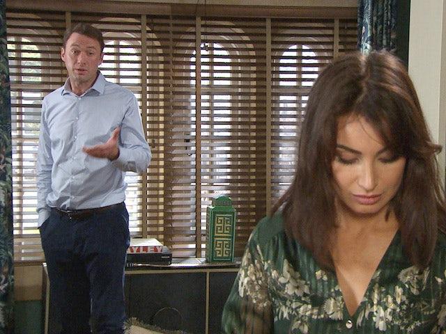 Liam and Leyla on Emmerdale on September 6, 2021