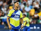 Juventus' Cristiano Ronaldo reacts on August 22, 2021
