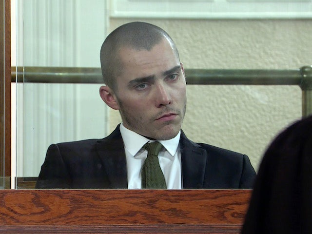 Corey on the first episode of Coronation Street on September 6, 2021