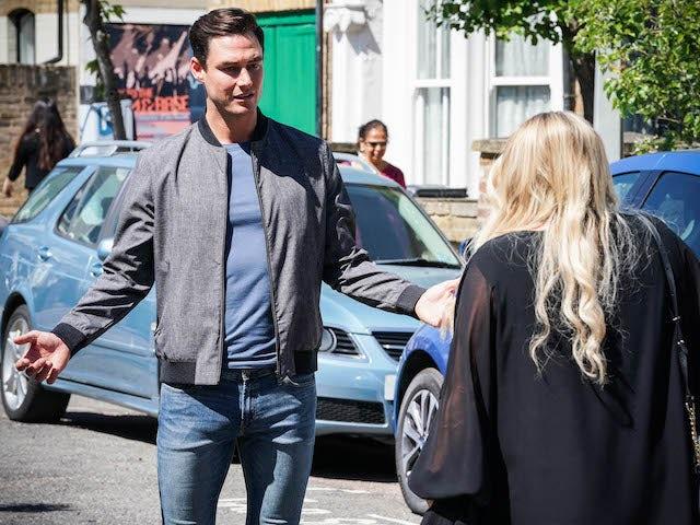 Zack and Sharon on EastEnders on September 6, 2021