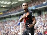 Everton's Dominic Calvert-Lewin celebrates scoring their second goal on August 28, 2021