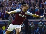 Aston Villa's Emiliano Buendia celebrates scoring their first goal on August 28, 2021
