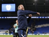 Brighton & Hove Albion manager Graham Potter celebrates after the match on August 24, 2021