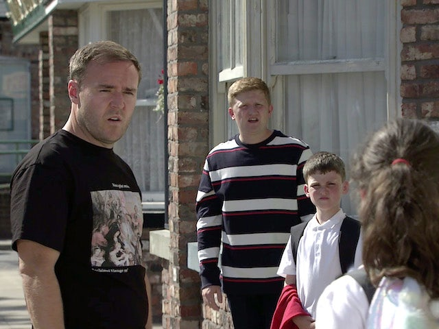 Tyrone and Ches on the first episode of Coronation Street on September 6, 2021