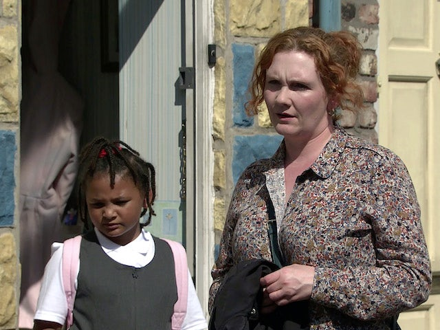 Fiz on the first episode of Coronation Street on September 6, 2021