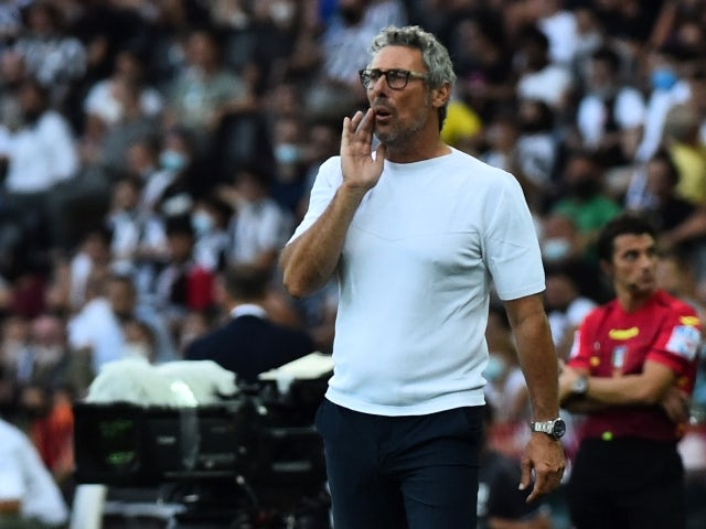 Udinese head coach Luca Gotti pictured on August 22, 2021