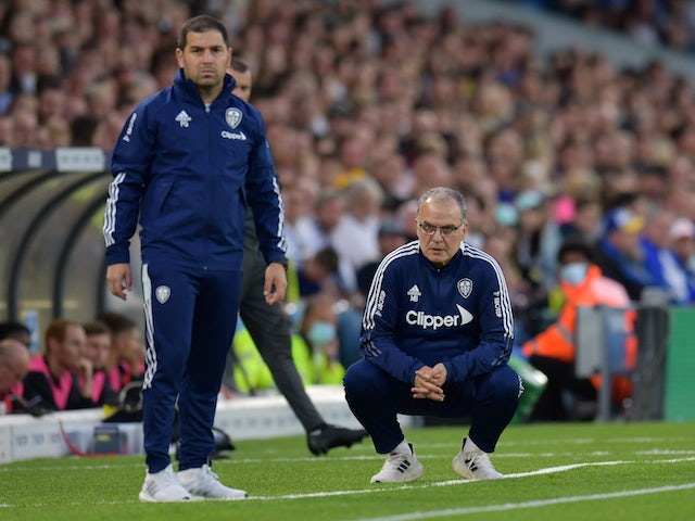 Leeds United manager Marcelo Bielsa on August 24, 2021