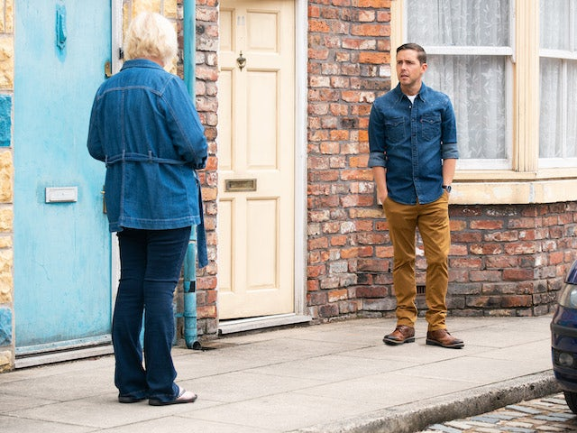 Todd on the first episode of Coronation Street on September 6, 2021