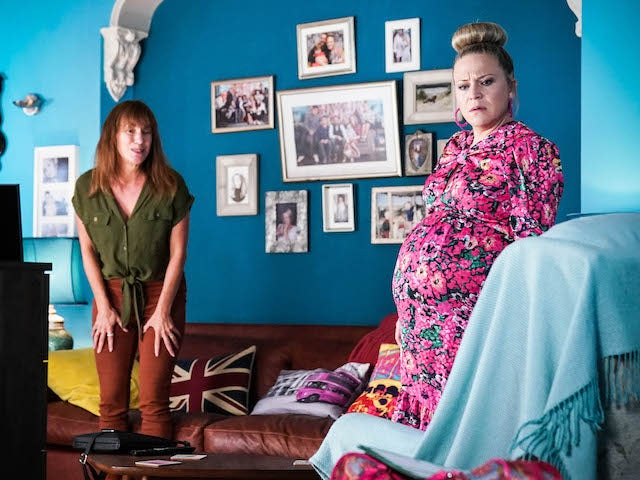 Rainie and Linda on EastEnders on September 9, 2021