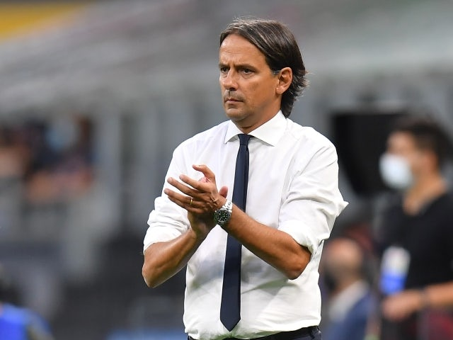Inter Milan head coach Simone Inzaghi pictured on August 21, 2021