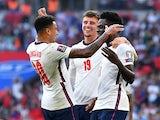England's Bukayo Saka celebrates scoring against Andorra on September 5, 2021
