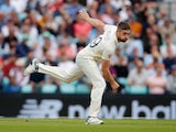Chris Woakes in action for England against India on September 2, 2021