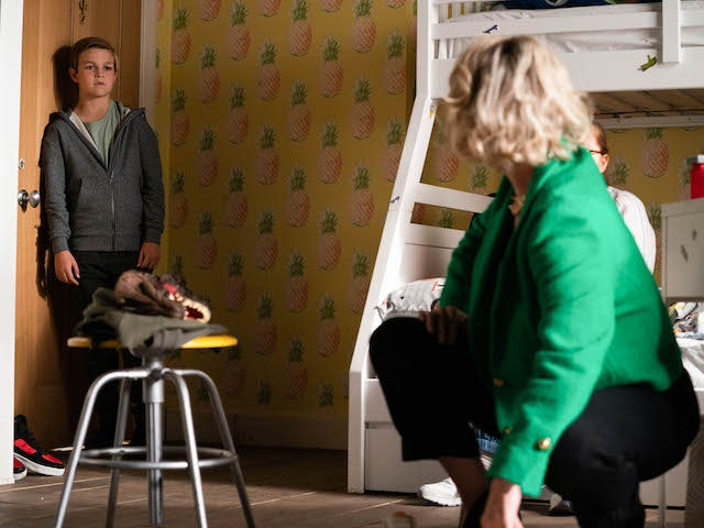 Tommy and Janine on EastEnders on September 13, 2021